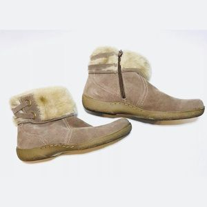 Baretrap Leather Faux Fur Lined Ankle Boots